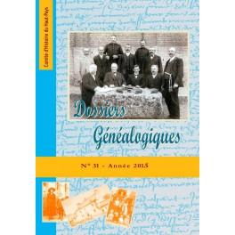Dossiers Généalogiques n° 31