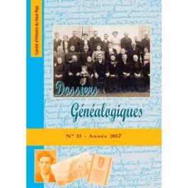 Dossiers Généalogiques n° 33