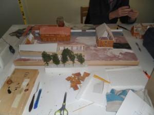 Une maquette en cours de réalisation