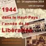 Affiche de l'exposition sur la Libération dans le Haut-Pays