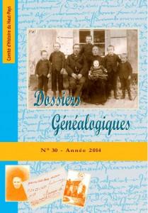 Dossiers Généalogiques n° 30 à paraître