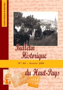 Bulletin historique n° 80 à paraître