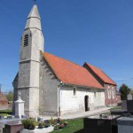 L'église Saint-Folquin de Rebergues, avec son curieux clocher de 1771