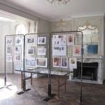 Documents, plans, photographies, attendent les visiteurs, ainsi qu'un diaporama sur l'évolution des travaux de restauration
