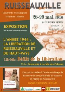 Expositions et cérémonie du 28 mai 2016 à Ruisseauville