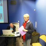 Francine Thorel resituant l'évolution du bourg-centre d'Ardres