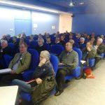 Les congressistes du matin, réunis dans la salle multimédia d'Enerlya