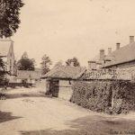 La rue de l'église à Beussent vers 1900