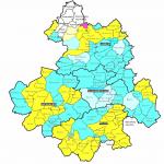 Carte des relevés disponibles sur Généadon en octobre 2017