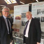Jean-Claude Leroy, Président du Pas-de-Calais, et René Lesage, Président du Comité d'Histoire, à la rencontre de l'histoire des papetiers