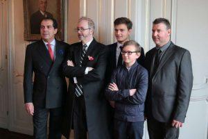 Le Prince de Bouron Parme, Mark Dixon et les Carlu, père et fils
