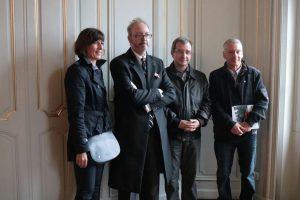 Hélène Boulet, Mark Dixon, Philippe May, et Hervé Willeman, rencontre entre passionnés d'histoire !