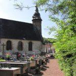 L'église de Torcy et son curieux clocher à bulbe
